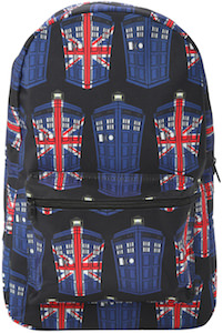 Tardis Union Jack Backpack