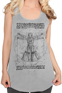 Doctor Who Vitruvian Cyberman Tank Top
