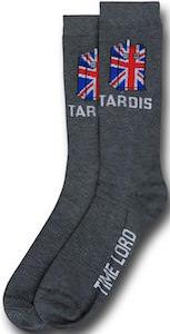 Dr. Who Tardis Union Jack Time Lord Socks
