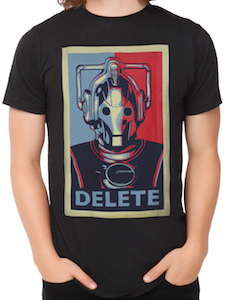 Doctor Who Cyberman Delete T-Shirt