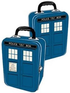 Doctor Who Lunch Box shaped like the Tardis