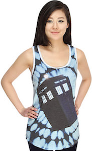Doctor Who Women's Tie Dye Tardis Tank Top