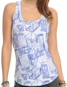 Tumbling Tardis Women's Tank Top