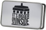 Doctor Who Tardis It' Bigger On The Inside Belt Buckle