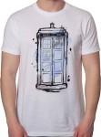 Doctor Who Watercolor Tardis T-Shirt