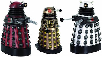 Dalek figurine set of 3 Daleks