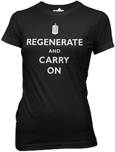 Doctor Who Regenerate And Carry On Women's T-Shirt