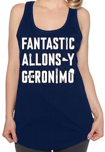 Doctor Who Fantastic, Allons-Y And Geronimo Tank Top