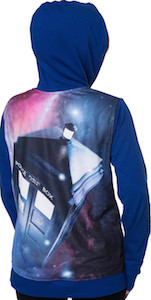 Tardis Zip Up Women's Hoodie