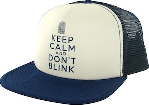 Doctor Who Keep Calm And Don't Blink Trucker Hat