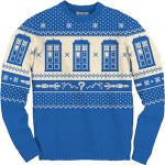Doctor Who Tardis Knitted Christmas sweater