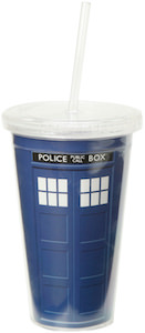 Tardis Acrylic Travel Cup With Straw