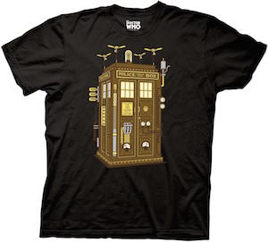 Doctor Who Steampunk Tardis T-Shirt