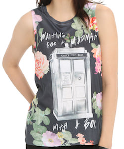 Doctor Who Floral Madman With A Box Women's Tank Top