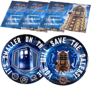 Doctor Who Party Ware Set With Plates And Napkins