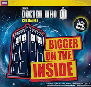 Doctor Who Tardis Bigger On The Inside Car Magnet