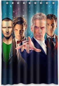Doctor Who 4 Doctors Shower Curtain