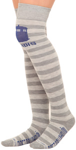 Striped Tardis Over The Knee Socks