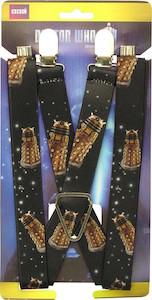 Doctor Who Golden Dalek Suspenders