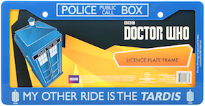 My Other Ride Is The Tardis Licence Plate Frame