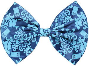 Damask Tardis Hair Bow