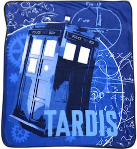 Blue Tardis And Gear Blanket