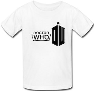 Kids Neon Sign Doctor Who Logo T-Shirt