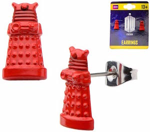 Doctor Who 3D Red Dalek Earrings