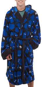 Doctor Who Tardis And Gears Bath Robe