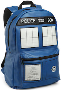 Tardis Faux Leather Backpack