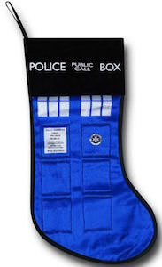 Doctor Who Tardis Doors Christmas Stocking