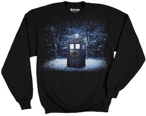 Snowy Tardis Christmas Sweater
