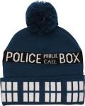 Doctor Who Tardis Blue Pompom Beanie Hat