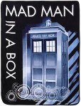 Doctor Who Tardis Mad Man In A Box Blanket