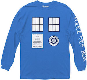Tardis Long Sleeve Shirt