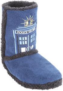 Tardis Image Slipper Boots