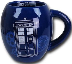 Blue Oval Tardis Mug