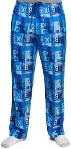 Doctor Who Police Box Sign Pajama Pants