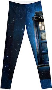 Doctor Who Tardis Police Box Leggings