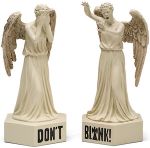 Weeping Angel Bookends