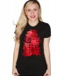 Doctor Who Ink Splatter Dalek Women's T-Shirt