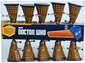 Dalek Christmas lights on a string