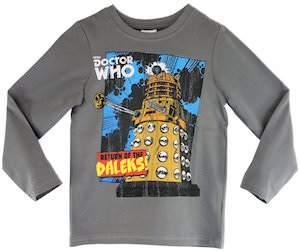 Return Of The Daleks Kids Long Sleeve T-Shirt