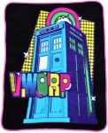 Doctor Who Tardis VWORP Throw Blanket