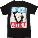 Doctor Who The Tardis Anywhere Anytime T-Shirt