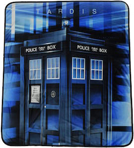 The Tardis Throw Blanket