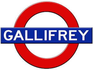 Gallifrey London Subway Sign Poster