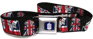 Union Jack Tardis Belt