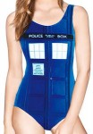 Doctor Who Women's Tardis One Piece Swimsuit