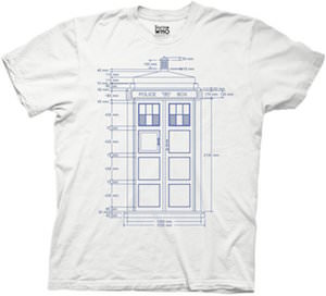 Tardis Blueprint T-Shirt
